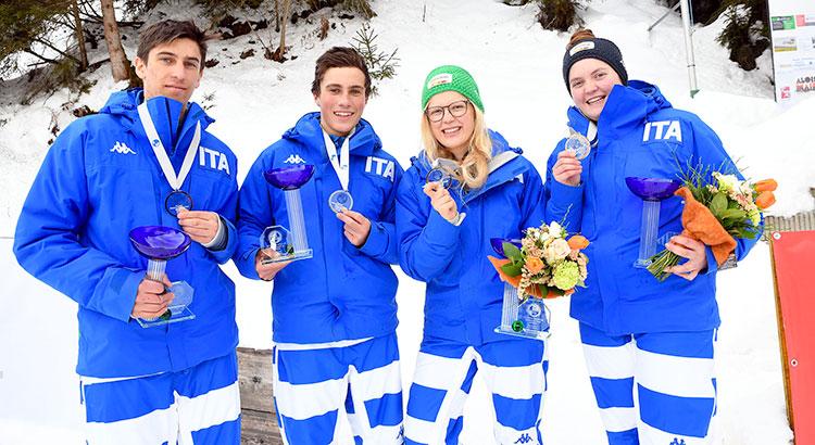 Mittermair, Staffler, Gruber e Haselrieder: quattro italiani sul podio a Oberperfuss nella Coppa del mondo juniores