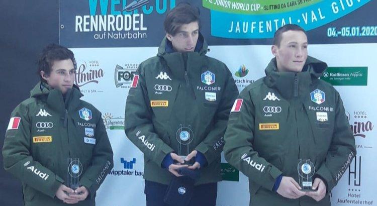 Tre azzurri sul podio a Jaufental nel singolo maschile della Cdm junior. Vittoria anche tra le donne con Staffler
