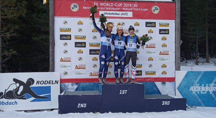 Doppietta azzurra nella gara d'esordio della Cdm di slittino pista naturale: Lanthaler prima e Pinggera seconda nel singolo femminile di Winterleiten