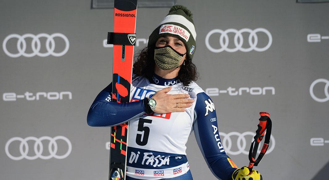 Brignone vince il superG di Val di Fassa ed eguaglia Compagnoni in vetta alla classifica delle più vincenti