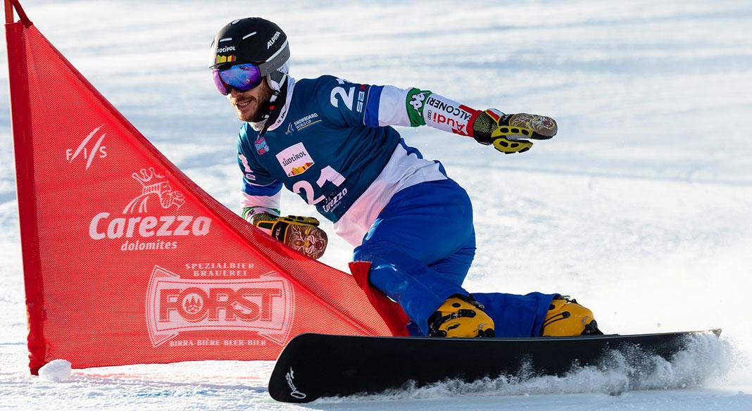 Allenamento in val Senales per la squadra di Coppa del mondo di snowboard PAR