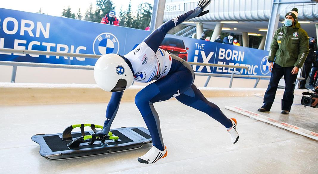 Le squadre di Coppa del mondo e Coppa Europa di skeleton in allenamento a Sochi