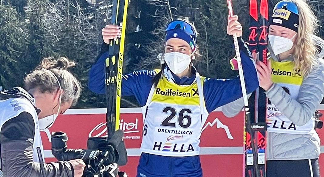 Rebecca Passler sul podio nella sprint di Ibu Cup a Obertilliach. Zini nono fra gli uomini