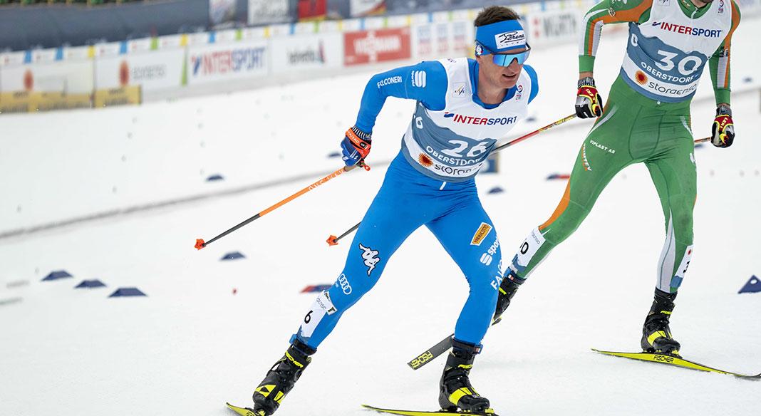 Oro a Johaug e Bolshunov nella skiathlon di Oberstdorf. Comarella 21/a, Gardener 22/o