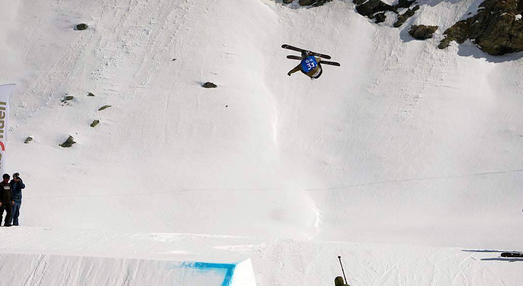 La squadra giovani maschile di slopestyle in allenamento tra Hintertux e Scharnitz dal 25 al 29 settembre