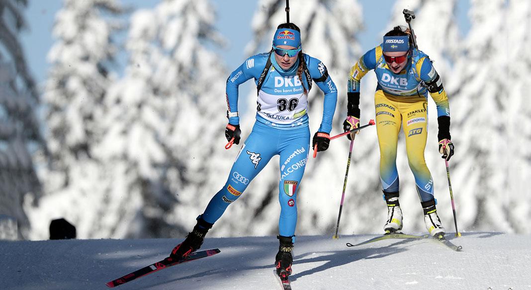 """Squadra """"A"""" e junior/giovani di biathlon in allenamento a Forni Avoltri, team """"B"""" a Ramsau"""