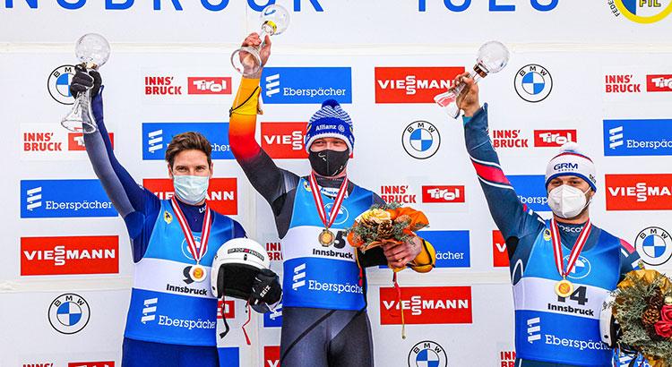 Kevin Fischnaller secondo nella sprint del singolo maschile di Innsbruck, si aggiudica la Cdm di specialità a pari merito con Loch