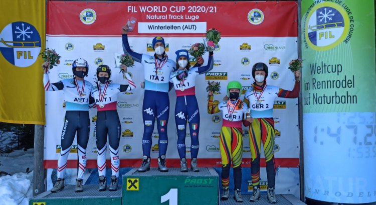 Tre podi italiani nella giornata conclusiva a Winterleiten. Pigneter/Lanthaler dominano la team competition