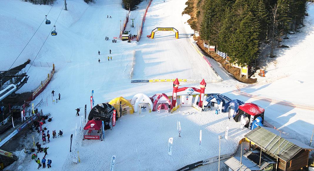 Le gare settimanali: Campionati Italiani giovani e Pinocchio sugli sci per lo sci alpino e Assoluti di snowboard