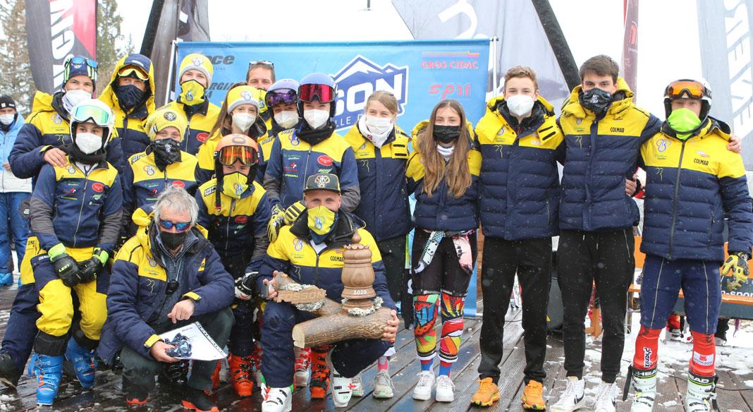 Lo Ski Club Challenge è ancora del Gardena: quarto successo consecutivo sulle nevi di Pila