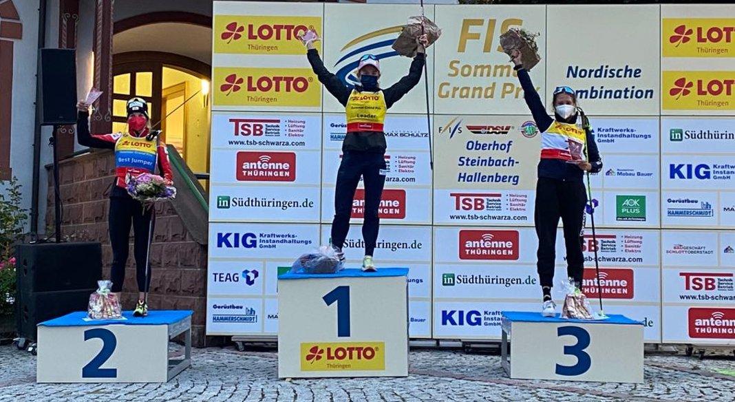 Sieff terza nella Gundersen del Grand Prix estivo di Oberhof. Costa 20simo fra gli uomini
